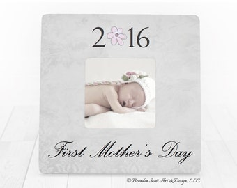 First Mothers Day Frame, First Mothers Day Gift for Mom Personalized Picture Frame, Mom Frame, Mom Gift, My First Mother's Day, New Mom