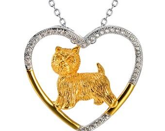 Sterling Silver West Highland Terrier Necklace