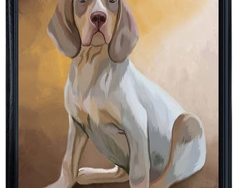 Pachon Navarro Dog Framed Canvas Print Wall Art