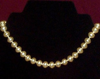 Ivory Pearl Necklace - 10mm - Elizabethan Renaissance - Victorian