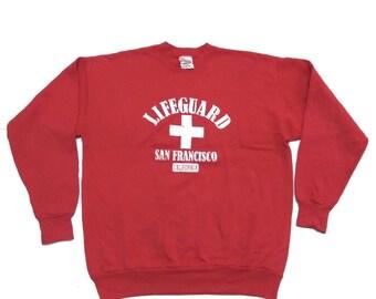Rare Vintage LIFEGUARD SAN FRANCISCO Sweatshirt long sleeve