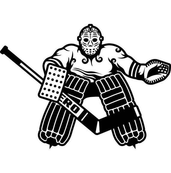 hockey player 1 goalie stick mask pads stadium arena ice rink. Black Bedroom Furniture Sets. Home Design Ideas