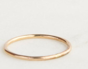 Simple Band, Skinny, 14k Gold Filled or Sterling Silver