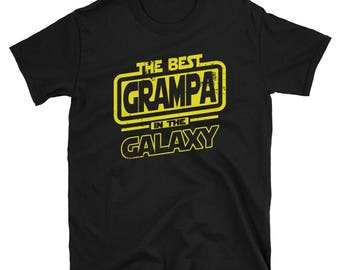 Grampa Shirt - The Best Grampa In The Galaxy - Grampa Gift T-Shirt