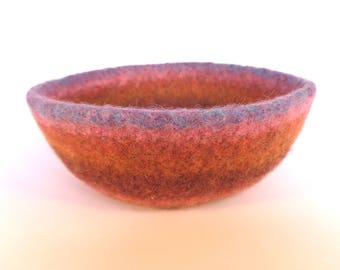 Felted Bowl in Meadow colours