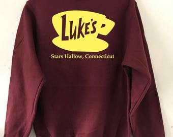 Luke's Gilmore Girls Crewneck Sweatshirt, TV Show, Rory Gilmore, Lorelai Gilmore