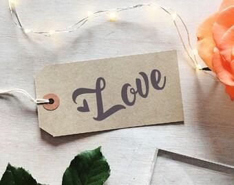 Love Stamp | Valentines Stamp - Wedding Stamp  - Modern Calligraphy - Heart Stamp