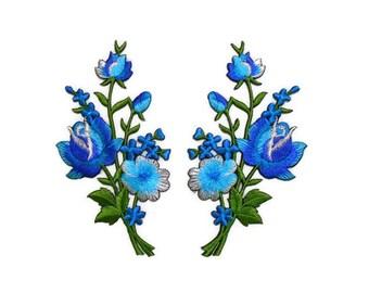 turquoise  jewel flower 4.5cm children glue on Sew on Applique Motif Patch trim