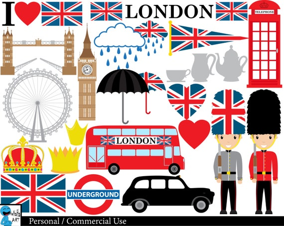 london uk set clipart digital clip art graphics personal