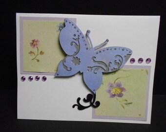 Handmade Butterfly Birthday Card
