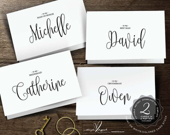 Editable Wedding Note card for your wedding party on your wedding day in PDF template file ( instant download) (TED334_23), in calligraphy