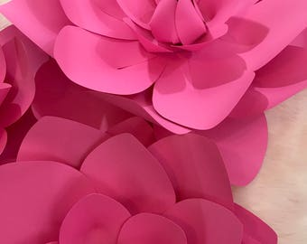 HARD COPY Template 7 Large paper Flower