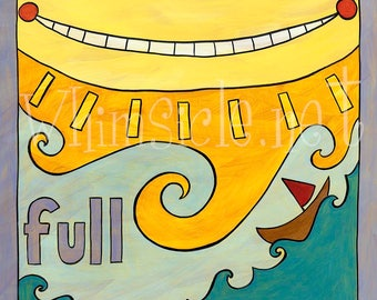 "Sun Art Print inspired by fortune cookies ""Full"" matted"