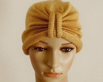 Turban hat, knitted handmade turban, winter hat, handmade turban for women, women's knitted hat, knitted from acrylic yarn