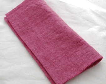 """100% Wool Felt Fabric - Approx 3mm - 5mm Thick - 30cm / 12"""" Square Sheet - Vitorian Rose Pink"""