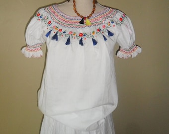 White vintage Urban Folk top