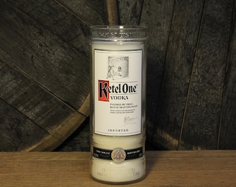 Ketel One Vodka Candle - Recycled Vodka Bottle Soy Candle 1L, Custom Scent and Color, 22oz Soy Wax, Dorm Furniture, Mother's Day Gift
