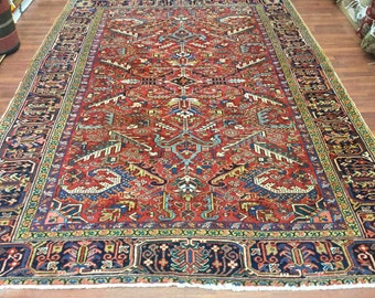 Antique Persian all over Heriz Rug-3784