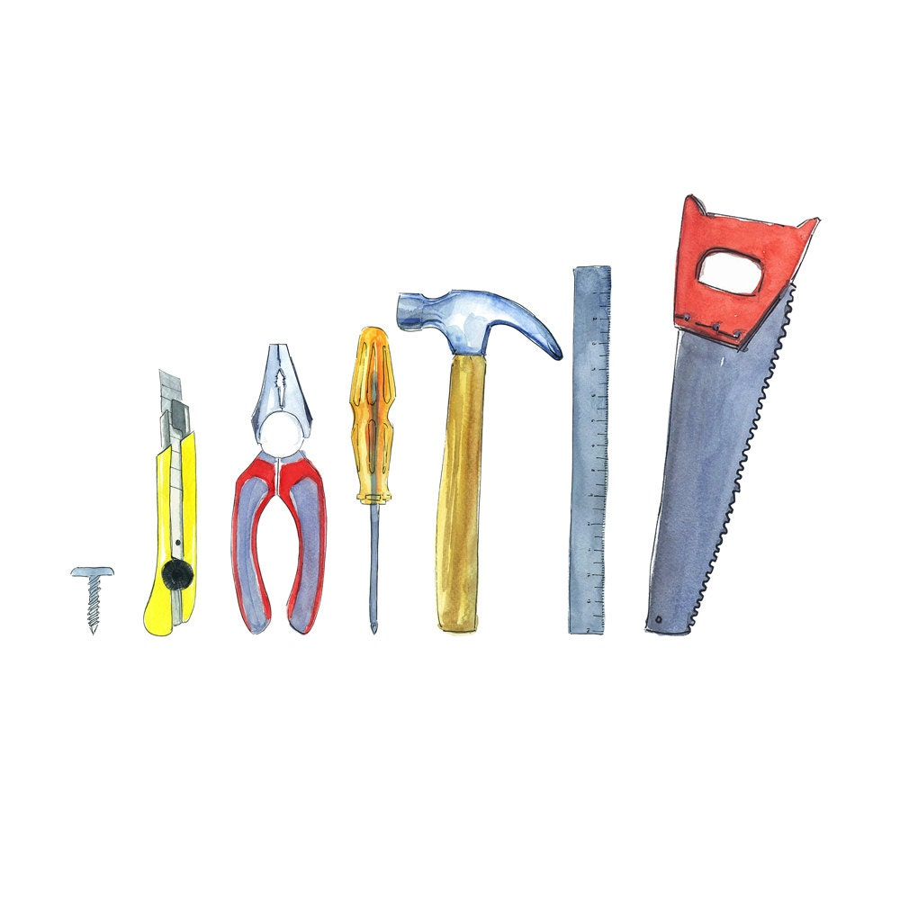 Tools Clipart Kit Instant Download Construction Tool Set