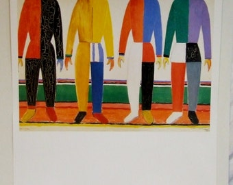 Kasimir Malevich abstract poster Sportsmen Hermitage Museum large Russian artist Large Art Gift искусство подарок