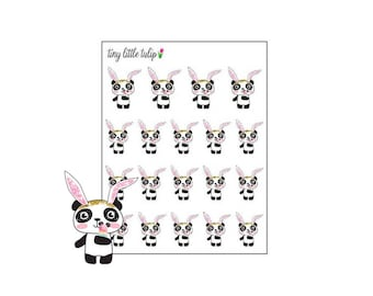 Planner Stickers Panda with Bunny Ears