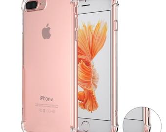 DIY Custom Case - Apple iPhone 8 7 Plus 360 Protection Shockproof Protector Case Slim Transparent Crystal Clear Soft TPU Gel Bumper Cover