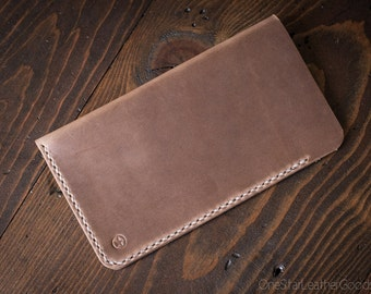 """iPhone 6 Plus (5.7"""") Hand Stitched Horween Chromexcel leather sleeve, phone case, iphone case, iphone sleeve - natural chromexcel"""