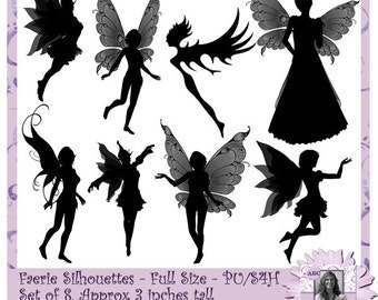 Faerie Silhouettes, Fairy Silhouettes, Sprite Silhouettes