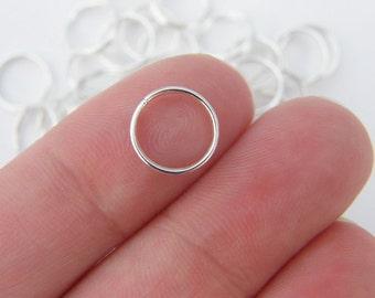 BULK 300 Split rings 10mm silver plated FS411