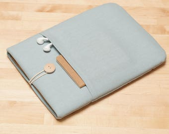 Laptop case 13 inch, Macbook Pro case  / Macbook Air 13 sleeve, 13 inch  laptop sleeve   - Dusty blue