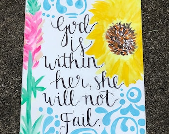 Psalm 46:5 Canvas Painting