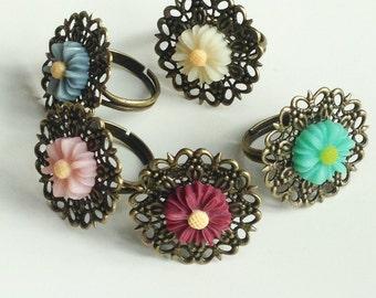 Vintage Style Flower Ring
