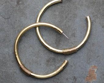 MAHARA oversized thick hoop earrings
