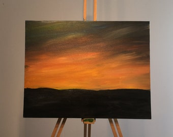Painting - Rainbow sunset