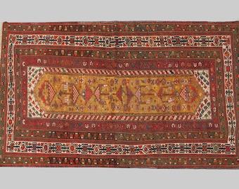 Handknotted Woollen Persian Antique Kordi Rug 205x135cm