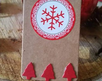 4 labels Red snowflake Christmas Tags!