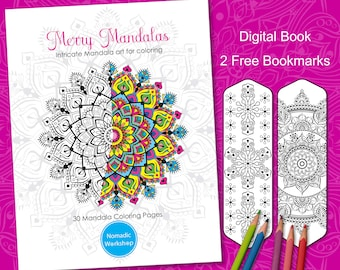 Mandala Coloring Book Printable Coloring Pages PDF Coloring pages Coloring book for adults Mandala Coloring Pages Printable Mandala 30 Pages