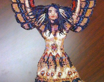 The Unworldly West - delica peyote stitch necklace