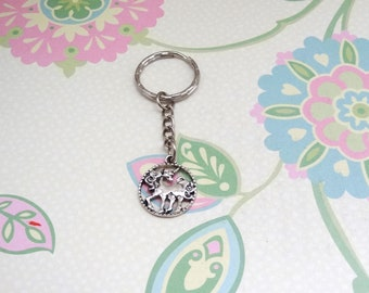 Silver Unicorn Keychain/Magical Animal Keychain/Fantasy Animal Keychain