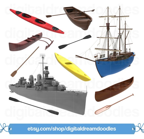 Boat Clipart Canoe Kayak Outrigger PNG Ship Clip Art Battleship Graphic Row Paddle Image Boating Scrapbook From