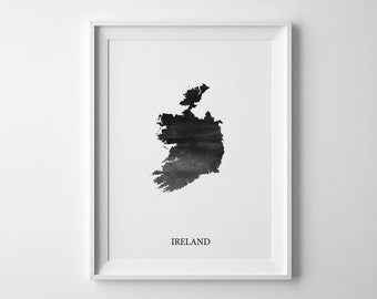 Ireland Watercolor Map Ireland  poster map gifts Ireland art Colorful map Ireland print Christmas map Country map art Abstract map