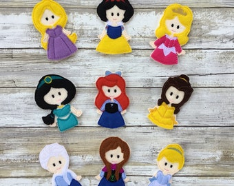 Princess Finger Puppets Pretend Play Imaginative Play toys Finger Play Individual