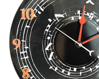 Musical Clock on Vinyl Record