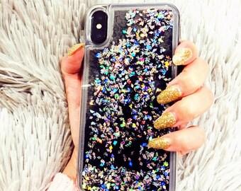 Diamond liquid Phone case iPhone 7 case iPhone 7 Plus case iPhone 6S case iPhone 6S Plus case iPhone 8 case iPhone 8 Plus case iPhone x case