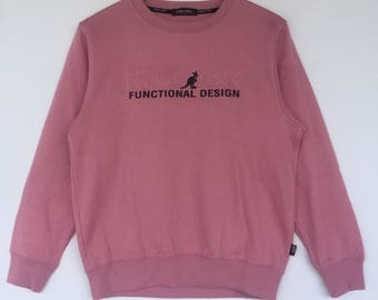 Casual soft pink Kangol Sport spell out sweatshirt pull over NOT Fila Adidas Stone island