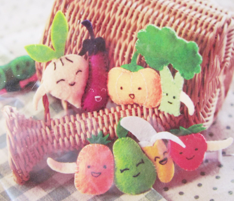 DIY Filz Gemüse Erbse Pins Plüschtier Nähen Geschenk Kinder