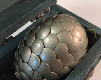 Dragon Egg with Box - Dragon Egg with Chest - Dragon Egg Decor - GoT Dragon Egg - ROSEMARY - Regal Style Box