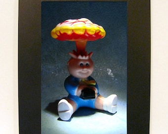"Framed Garbage Pail Kids Toy Photograph 5x7"" Atom Bob"