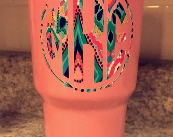 Lilly Pulitzer inspired Decal