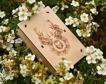 Forest deer tarot box